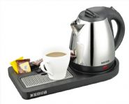 Corby Buckingham Compact Welcome Tray with Kettle, Black